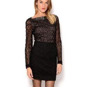 DVF black Lace Dress